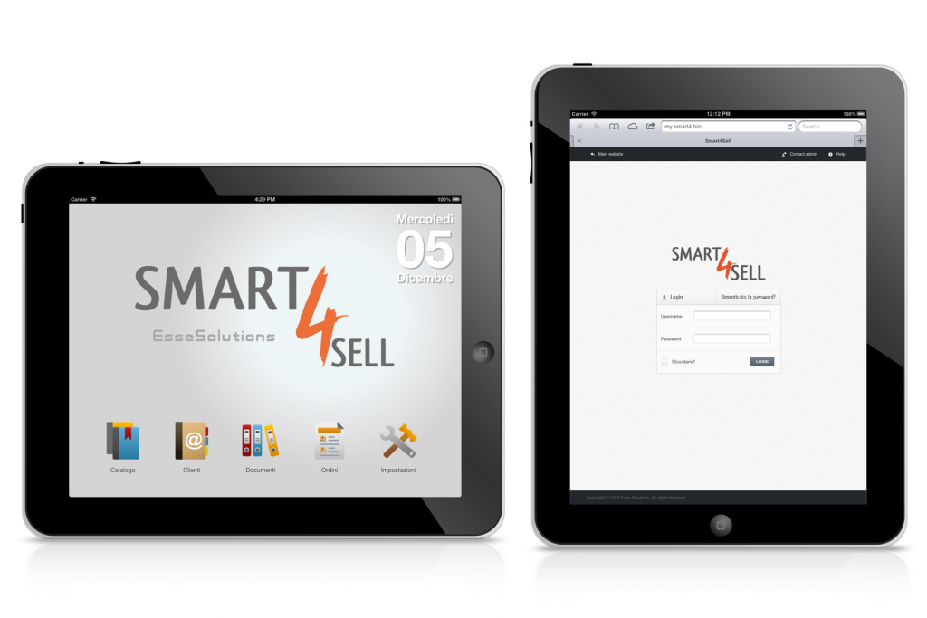 Smart4sell: Raccolta oridini via tablet, software raccolta ordini agenti