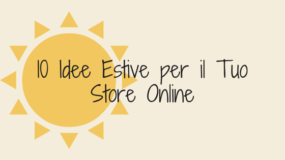 store online idee per l'estate