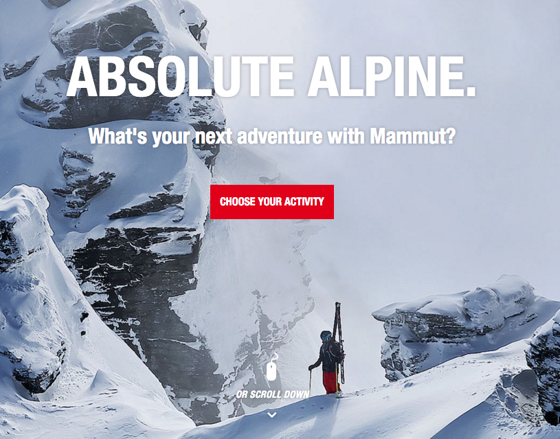 Absolute Alpine cta e-commerce