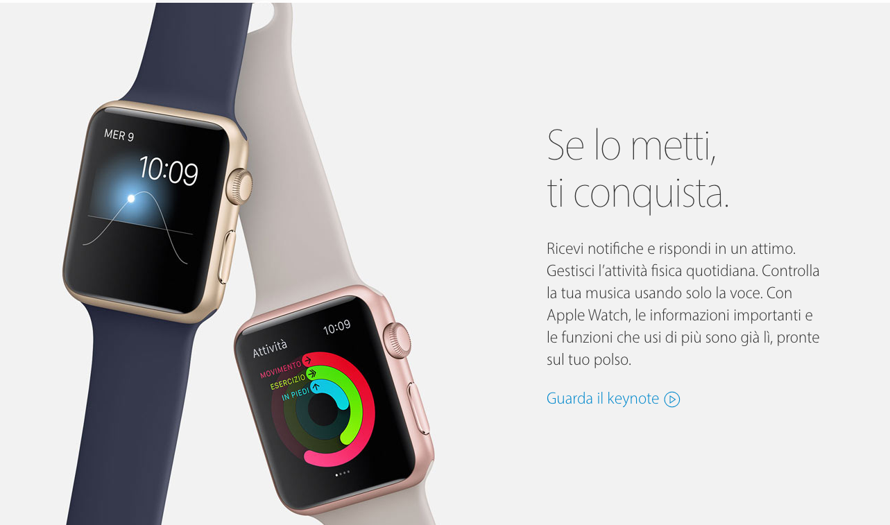 Esempio Call to Action Apple Watch