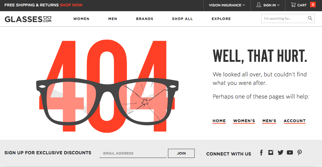 pagina 404 micro contenuti ecommerce best practices